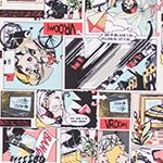 Designer pattern Brenda Comic Beige