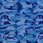 Designer pattern Camo - Blue