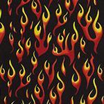Designer pattern Flames - Red