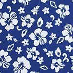 Designer pattern Hibiscus - Blue
