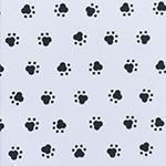 Designer pattern Paw Prints - Black