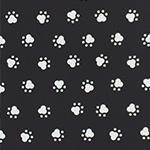 Designer pattern Paw Prints - White