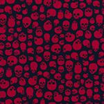 Designer pattern Skulls - Red